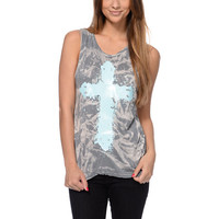 See You Monday Acid Wash Mint Cross Muscle Tank Top at Zumiez : PDP