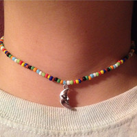 "The ""Summer Camp"" 90s Style Beaded Choker"