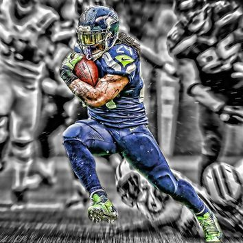 Seattle Seahawks Football American Football Poster Canvas Wall Art