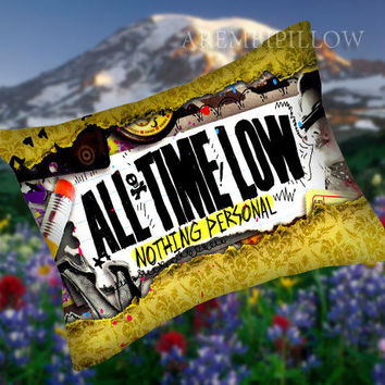 All Time Low Nothing Personal - Pillow Case,Retro Pillow,Throw Pillow,Sova Pillow,Pillow Cover.The Best Pillow.