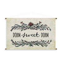 """Dorm Sweet Dorm"" Canvas Wall Banner"