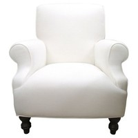 Custom Roll-Back Linen Club Chair