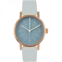 Open Box - V03D Watch - Navy Dial/Copper Case/Grey Leather Strap | VOID Watches | HORNE