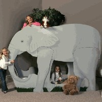 Elephant Jungle Safari Themed Bunk Bed
