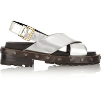Marni - Mirrored-leather sandals