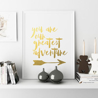 NURSERY PRINTABLE You are Our Greatest Adventure Wanderlust Decor Adventure Nursery Gray Nursery Decor Adventure Printable Instant Download