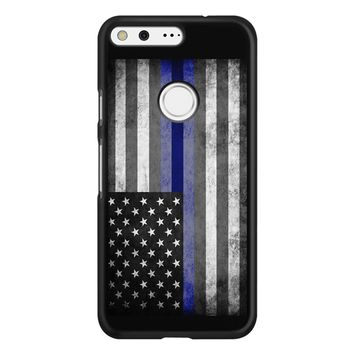 The Thin Blue Line American Police Officer Google Pixel Case