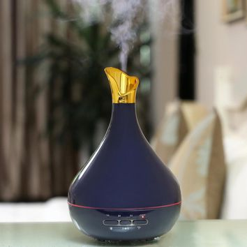 300ML Flower Vase Shape Aromatherapy Air Humidifier Ultrasonic Essential Oil Aroma Diffuser with LED Light Water Fogger Atomizer