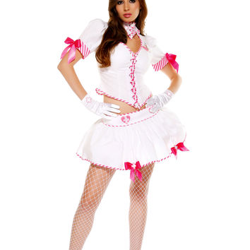 White Nurse Eye Candy Costume