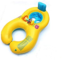 Inflatable Comfortable Mother And Baby Swim Float With Chair Seat Kids Swimming Ring
