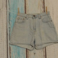 Levis Denim Shorts Size 10 Blue