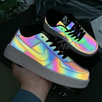 Nike Air Force 1 Chameleon Laser Fashion Casual Running Sport Shoes Sneakers