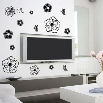 Refrigerator Stickers Butterfly Pattern Wall Stickers Magnet Butterflies Wall Decals Home Decor Kids Rooms Wall Decoration