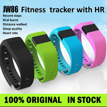 JW86 heart rate Smart Bracelet Wristband watch Bluetooth 4.0 similar for fitbit Fitness Activity Track wireless sport band