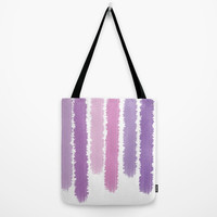Purple Stripped Tote  - Grocery Bag - Beach Bag - Book Bag - Tote Bag