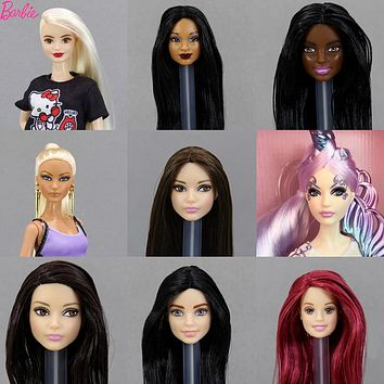For Barbie Limited Collection American Girl One Pcs Doll Head Accessories Fashion Hair Golden Galactic Toys For Children
