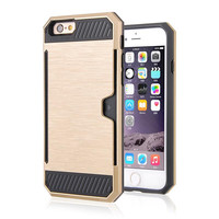 DEFENDER CARD HOLDER IPHONE CASE GOLD