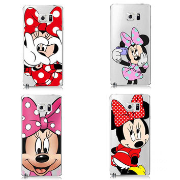 Funny mickey Minnie Emoji Mickey Mouse Princess Cover For Samsung A3 A5 A7 A8 J1 J5 J7 Note 7 4 5 S3 S4 S5 S6 Edge Plus S7 Edge