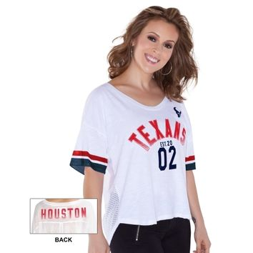 Houston Texans Touch by Alyssa Milano Women's Hadley T-Shirt – White