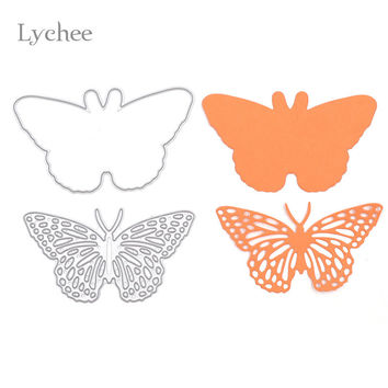 1 Set Butterfly Frame Metal Scrapbooking Die Cuts Craft Decorative Embossing Folder Cutting Dies Stencils Paper Cards Template