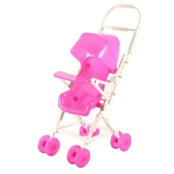 Assemble Baby Girls Doll Carriage Stroller Doll Accessory