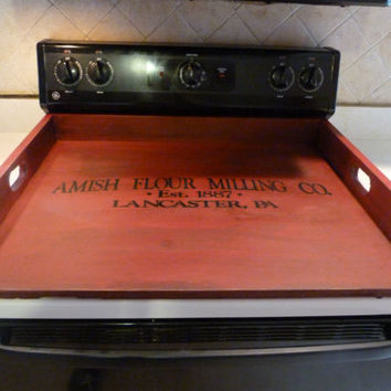 Burgundy, Primitive Kitchen, Noodle Board, Dough Board, Country Kitchen Board, Wooden Tray, Stove Top Cover, Laundry Room