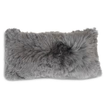 "Mitchell Gold Bob Williams Alpaca Silver Pillow, 22"" x 11"" 