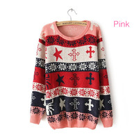 Star and Cross Sweater