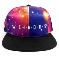 Weirdos Spaced Snapback Hat in Fruition Black