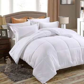 Down Alternative Comforter, Duvet Insert, Medium Weight for All Season, Fluffy, Warm, Soft & Hypoallergenic