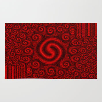 Red Christmas Decoration #5 Rug by Moonshine Paradise | Society6