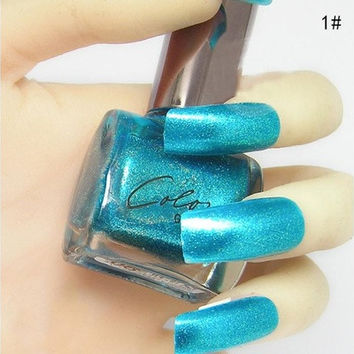 Nail Polish- Metallic Blue Shimmer Nail Polish  #dododoshop# [8833577996]