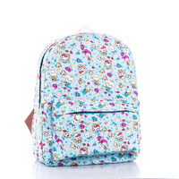 Rabbit Canvas Fashion Stylish Backpack = 4888015876