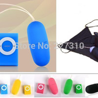 2pcs/lot 20 speeds remote control vibrating egg 5 Color vibrators  + women Sexy Panties underwear T-back Put egg Panties Thong