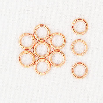 Solid Copper 6mm Jump Ring 10-Pack JSJ66 Jewelry Supplies for Jewelry Making and Jewelry Repair