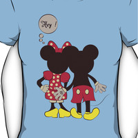 Naughty Mickey & Minnie Mouse T Shirt Women's T-Shirt