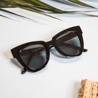 Glammed Large Mirrored Sunnies, Black