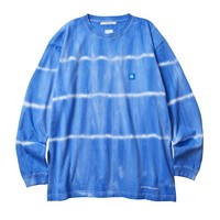 Tie Dye Striped L/S Tee in Blue