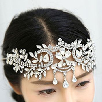 Crystal Bridal Crown Tiara Women Hair Jewelry Wedding
