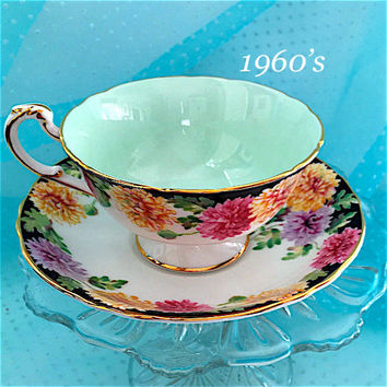 Paragon Vintage 1960's  Tea Cup Set High Tea, Bridal Shower Tea Party, Antique Teacups, English Teacup and Saucer, Birthday Gift for Wife