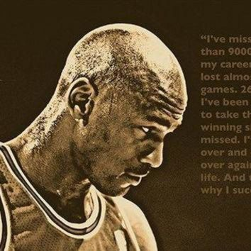CREYUG7 SUCCESS QUOTE photo poster MICHAEL JORDAN basketball great SPORTS FAN 24X36