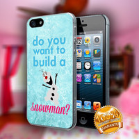Disney Frozen Olaf Quotes Snowman - Print on hard plastic case for iPhone case. Select an option