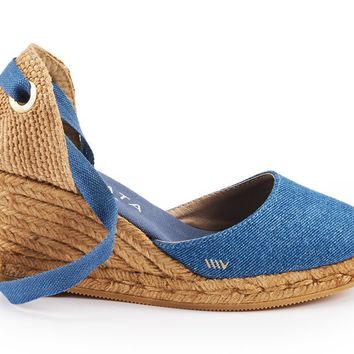 Sagaro Canvas Wedges - Denim
