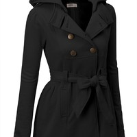 SJSP Womens Wool Blended Classic Pea Coat Jacket