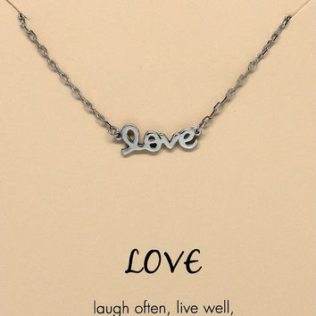 Trixie  Live, Love, Laugh Necklace & LOVE Pendant