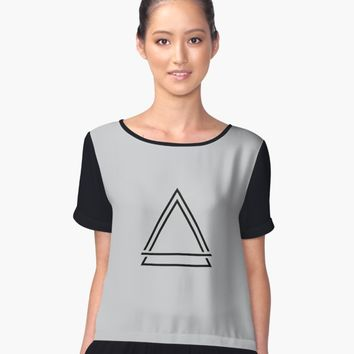 "'""geometric art 512""' Women's Chiffon Top by BillOwenArt"