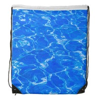 Fresh Blue Water Drawstring Backpack