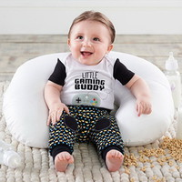 Baby Aspen BA16117NA My First Gaming Buddy 2 Piece outfit 0 6 mos