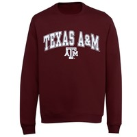 Texas A&M Aggies Youth Mid Size Crewneck Fleece T-Shirt – Maroon