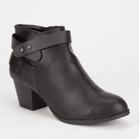 City Classified Bevan Womens Booties Black  In Sizes
